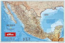 Mexico Maps by Mexico Wall Map Laminated By National Geographic L Free Maps