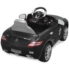 electric ride on car mercedes benz sls amg black 6 v remote