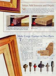 114 router made picture frame woodworking plans frames
