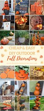 cheap outdoor decorations 50 cheap and easy diy outdoor fall decorations prudent pincher