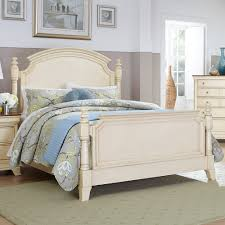 Antique White Bedroom Furniture Homelegance Inglewood Ii Panel Poster Bed In Antique White