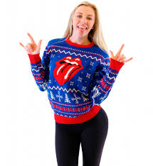 christmas sweaters rolling stones christmas sweater