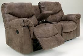 Loveseat Recliner With Console Alzena Double Reclining Loveseat With Console From Ashley 7140094