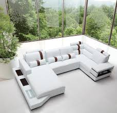 Section Sofa Modern White Leather Sectional Sofa