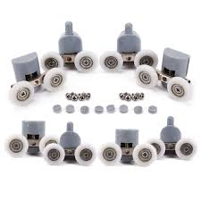 Shower Door Fittings by Amazon Com Shower Door Wheels Lance Home 8pcs Double Twin Top