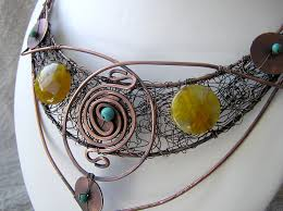 ethnic necklace design images Tribal jewellery wire moon jpg
