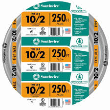 southwire 250 ft 10 2 gray solid cu uf b w g wire 13056755 the