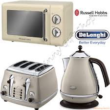 Deloghi Toaster Delonghi Icona Kettle 4 Sl Toaster Russell Hobbs Microwave Cream