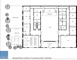 Community Center Floor Plans by Byzantine Latino Community Center Saunders Wiant Oc
