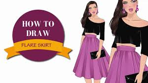 how to draw a flare skirt in fashion sketches i draw fashion