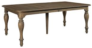 kincaid weatherford canterbury rectangular dining table in heather