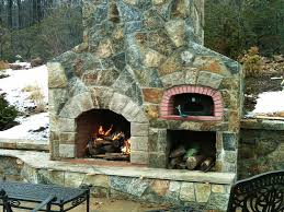 outdoor kitchen with pizza oven and fireplace variations of