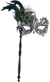 black masquerade masks for women kapmore masquerade mask on stick black costume metal mask