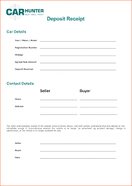 car deposit receipt template rental invoice budget letterecurity