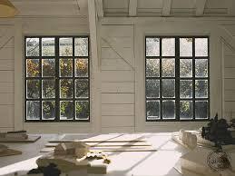 white painted timber framed art studio interior