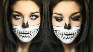 Halloween Skull Face Makeup by Skull Halloween Makeup Tutorial Youtube