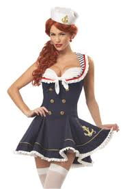 Xl Womens Halloween Costumes Vocole Women Halloween Nautical Navy Sailor Pin Stripe