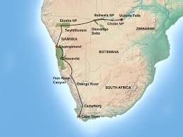 Victoria Falls Map Northern Experience 22 Days Jenman African Safaris