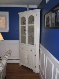 Oak Curio Cabinets Curio Cabinet White Corner Hutch For Dining Room Trends Also