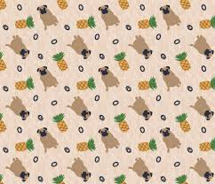 Primitive Upholstery Fabric Primitive Pug And Pineapple Ditsy Fabric Rusticcorgi Spoonflower