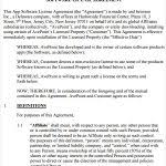 licensing agreement template free software license certificate template software license agreement 7