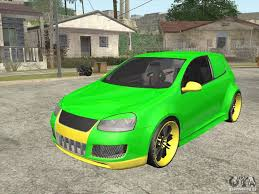 volkswagen custom volkswagen golf v r32 custom for gta san andreas
