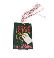 do not open u0027til christmas gift tags by rifle paper co made in usa