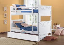White Wooden Bunk Bed Homelegance Sanibel Cottage White Wood Kid Bunk Beds