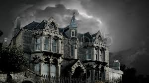 halloween stock footage scary old creepy house revealed in frightening lightning storm