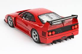 model f40 bbr models 1 18 1989 f40 lm in resin model car in 1 18