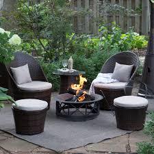 Patio Furniture Fire Pit Table Set - 53 fire pit table and chairs set patio furniture set cast