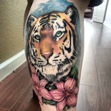 collection of 25 3d waves and tiger scream tattoos on shoulder