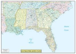 map eastern usa states cities southeast usa wall map mapscom southeastern united states map my