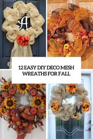 12 easy diy deco mesh wreaths for fall shelterness