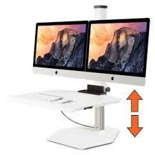 Sit Stand Desk Converter by Winston Workstation Multiple Monitor Mount Sit Stand Desk Stand
