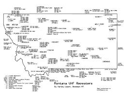 Libby Montana Map by Repeaters U2013 Kf7ba