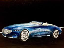 2018 vision mercedes maybach 6 cabriolet markers and coloured