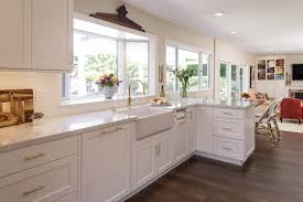 kitchen remodels with white cabinets white kitchen remodel with polished brass accents msk