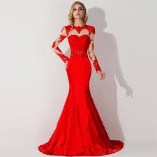 aliexpress com buy robe de soiree sheer chiffon red long