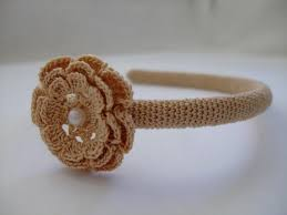 crochet hair band shabby chic wedding vintage headpiece crochet hair band boho