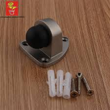 decorative door stopper zinc alloy door bumper satin nickel triangular door stop for