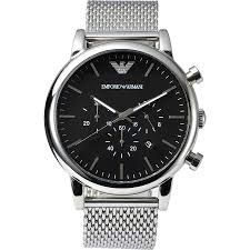 armani stainless steel bracelet images Emporio armani men 39 s chronograph stainless steel mesh bracelet jpg