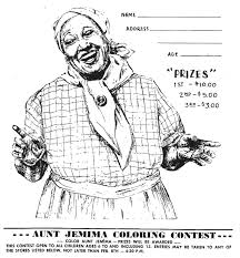 mostly paper dolls aunt jemima coloring contest