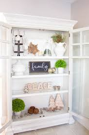Curio Cabinets Living Spaces Farmhouse Style Christmas Curio Cabinet Farmhouse Style Spaces