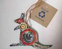kangaroo ornament etsy