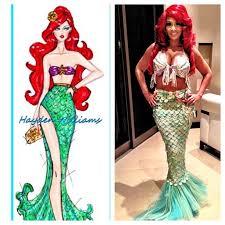 Mermaid Costumes Halloween Red Headed Costumes Evelyn Lozada Dresses Red Head Mermaid