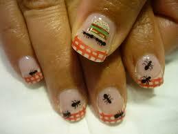 ants at a picnic nail art amazing nails pinterest arte per