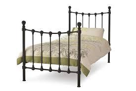 serene marseilles 3ft single black metal bed frame bedframeshop