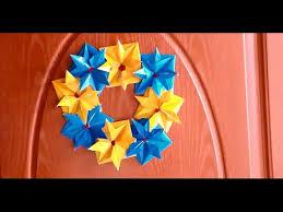diy christmas door decoration door ornament youtube