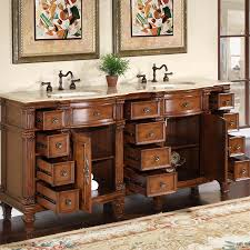Antique Style Bathroom Vanities by 72 U201d Perfecta Pa 5228 Bathroom Vanity Double Sink Cabinet